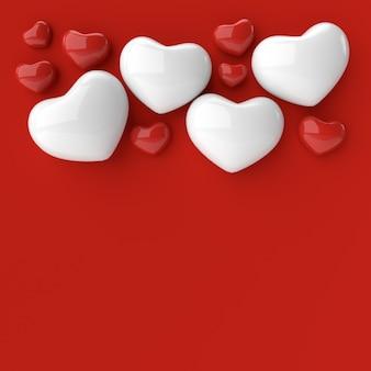 Valentinstag hintergrund. 3d-rendering.