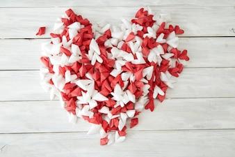 Valentinstag Hintergrund Herzen Papier