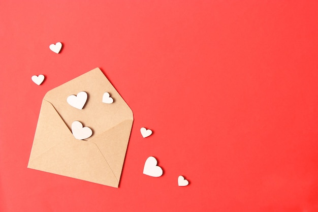Valentinstag hintergrund in den herzen des minimalismus-stils