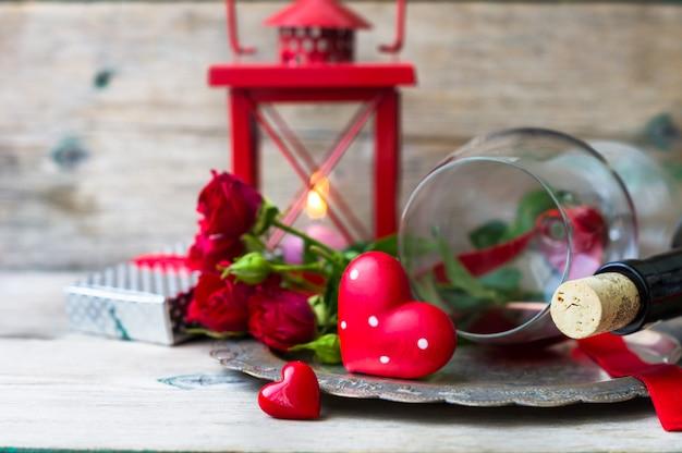 Valentinstag im vintage-stil