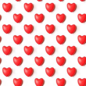 Valentinstag-komposition. rote herzen nahtlose muster-muster. liebe konzept.