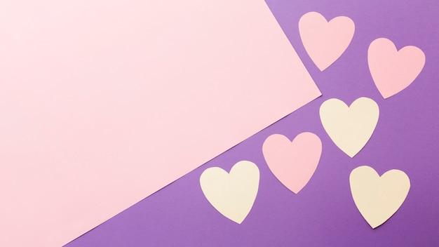 Valentinstag papier herzen