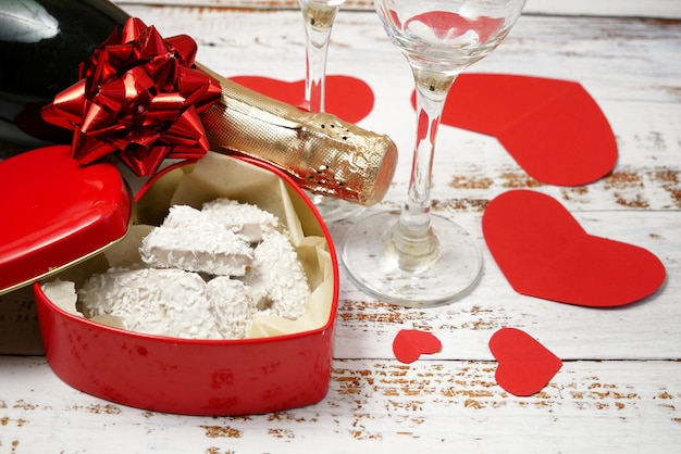 Valentinstag party konzept
