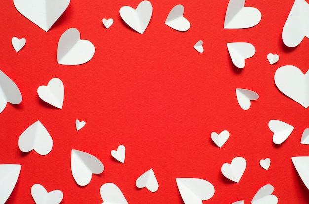 Valentinstag postkarte. liebeskonzept für muttertag und valentinstag. ansicht von oben. kopieren sie platz