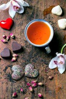 Valentinstag romantische komposition