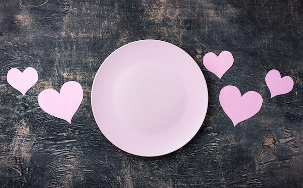 Valentinstag rosa tabelleneinstellung