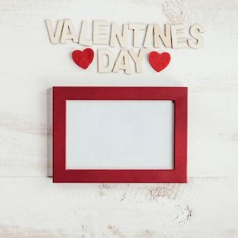 Valentinstag schriftzug mit rahmen