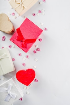 Valentinstaggeschenk-geschenkboxhintergrund