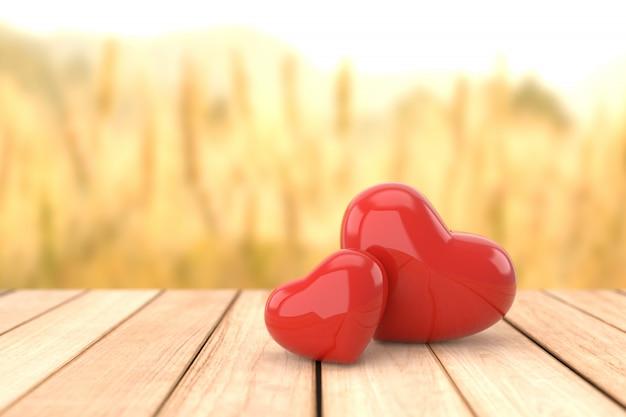 Valentinstaghintergrund, wiedergabe 3d.