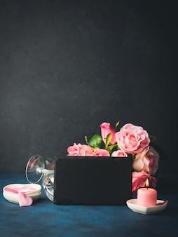 Valentinstagkonzept und grußkarte