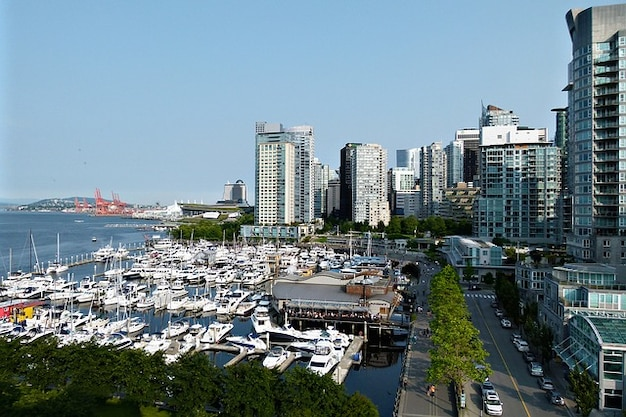 Vancouver yachthafen boote stadt kohle