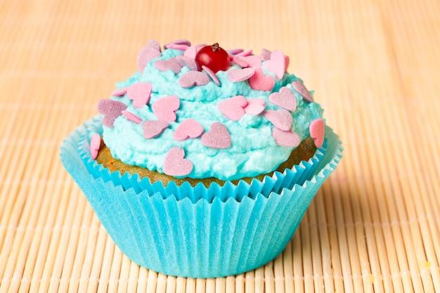 Vanillekuchen mit minzcreme