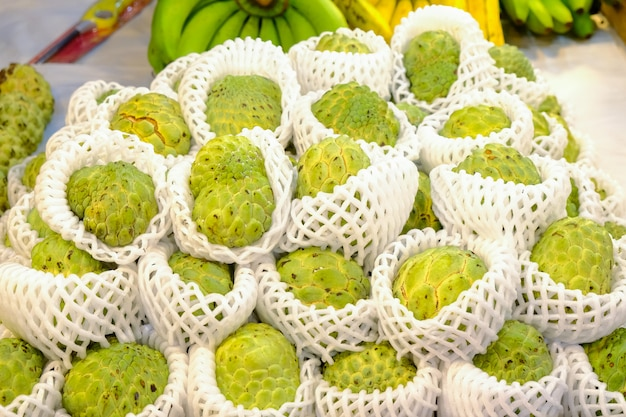 Vanillepuddingapfelfrucht, zum am markt zu verkaufen.