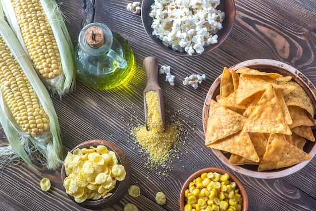 Variation von maisprodukten