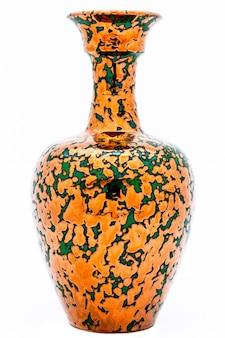 Vase mit metallischem aspekt