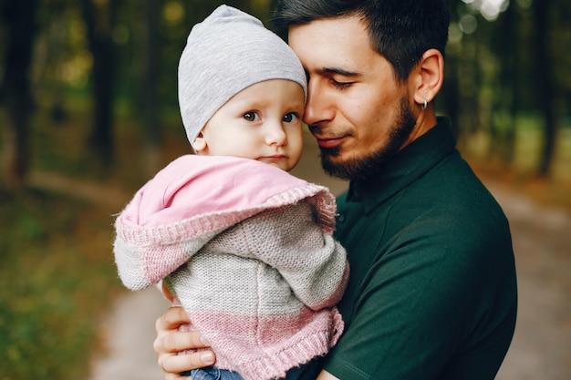 Vater mit kleiner tochter