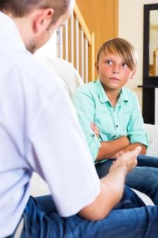 Vater- und jugendsohndiskussion
