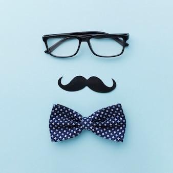Vatertagsfeier mit brille