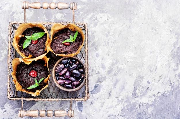 Vegane muffins aus kidneybohnen