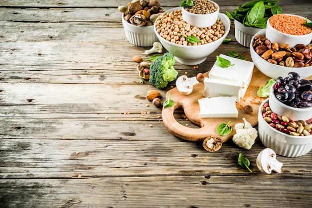 Vegane pflanzliche eiweißquellen