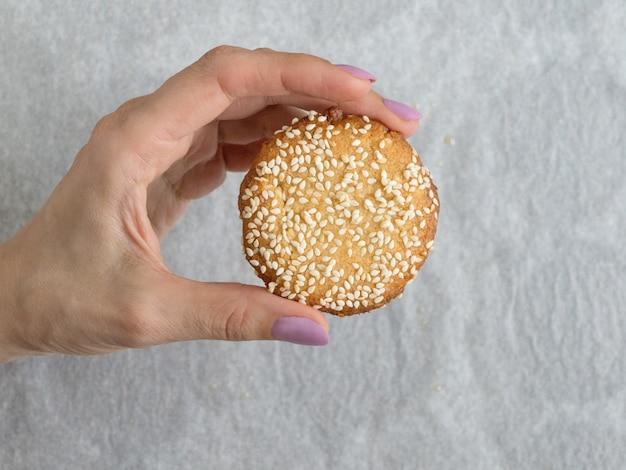 Vegane tahini-kekse, glutenfrei, hautnah