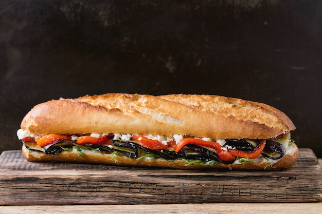 Vegetarisches baguettesandwich