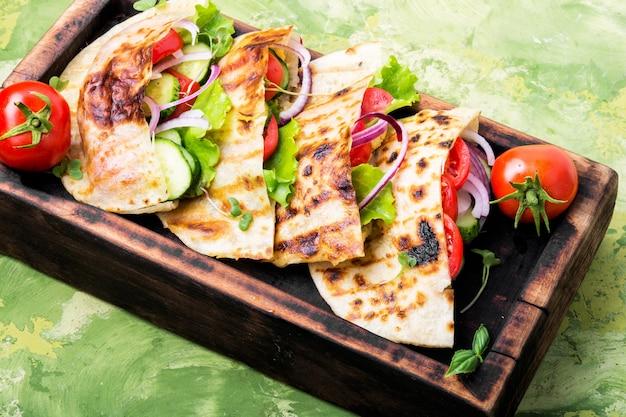 Vegetarisches pita sandwich