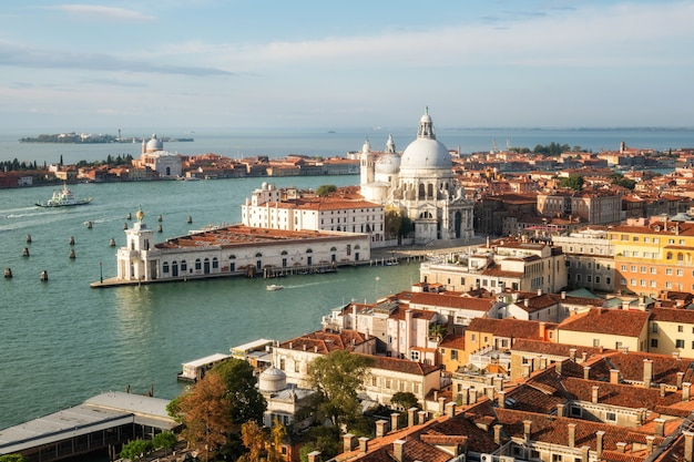 Venedig italien und basilika santa maria della salute