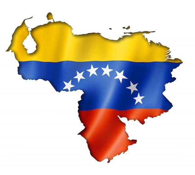Venezolanische flagge karte