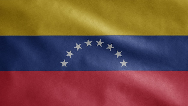Venezolanische flagge weht im wind