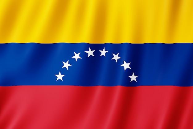 Venezuela-flagge weht im wind.