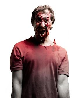 Verängstigt zombie arme dicht am körper