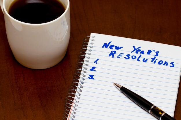 Verbesserungsliste des neujahrsvorsatzes konzeptionell