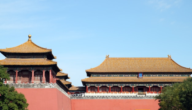 Verbotene stadt des palastes in peking, china
