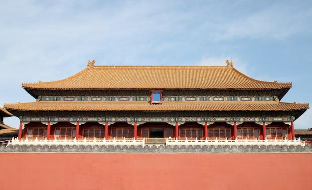 Verbotene stadt des palastes in peking, china