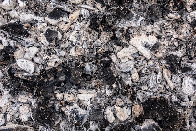 Verbrannte kohlen textur hintergrundbild