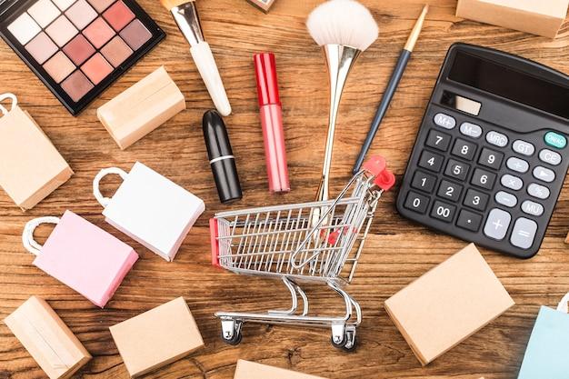 Verbraucher nutzen das internet-shopping-konzept