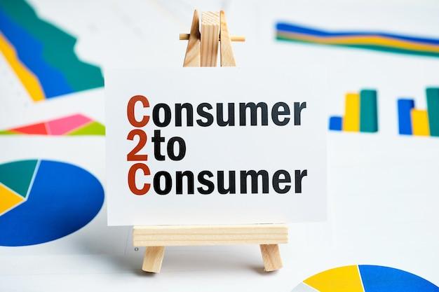 Verbraucher zu verbraucher auf dem teller.