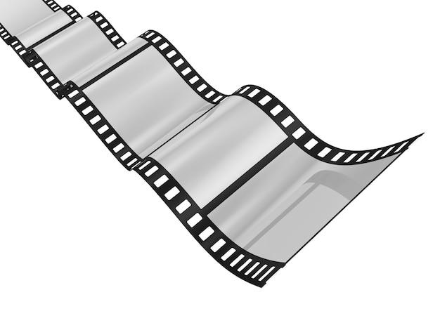 Verdrehter leerer film für eine kamera