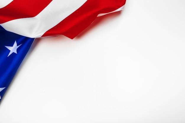 Vereinigte staaten der amerikanischen flagge isoliert