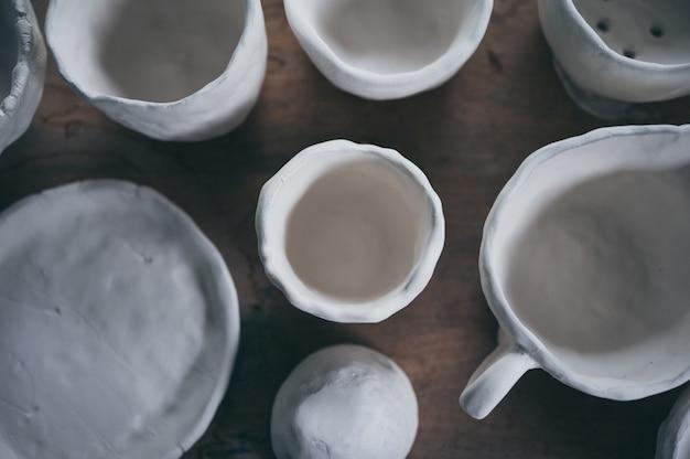 Verfahren des tonkeramiktopfes, handwerk zur herstellung von keramik aus ton