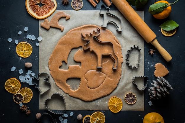 Verfahren zur zubereitung von hausgemachten keksen für weihnachten und neujahr