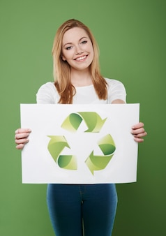 Vergessen sie nicht das recycling ihrer abfälle