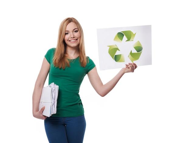 Vergessen sie nicht das recycling