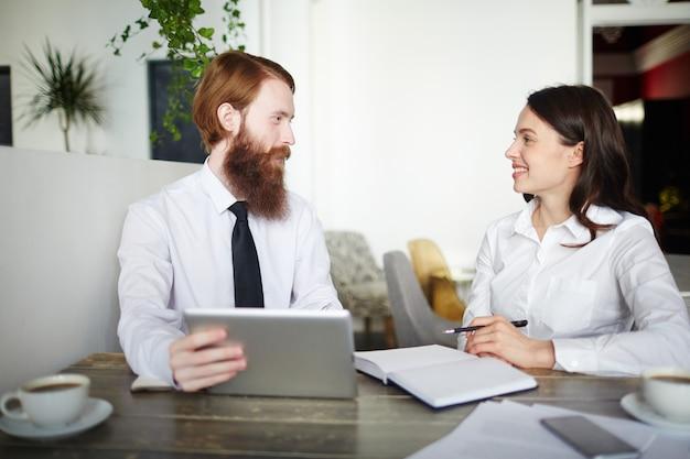 Verhandlung von unternehmern
