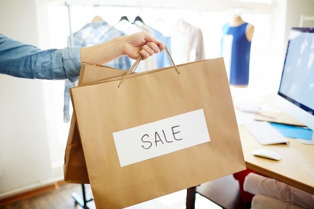 Verkauf in boutique