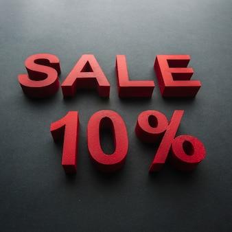 Verkauf mit zehn prozent rabatt