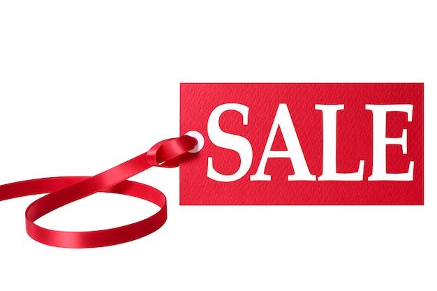 Verkauf preisschild mit rotem band