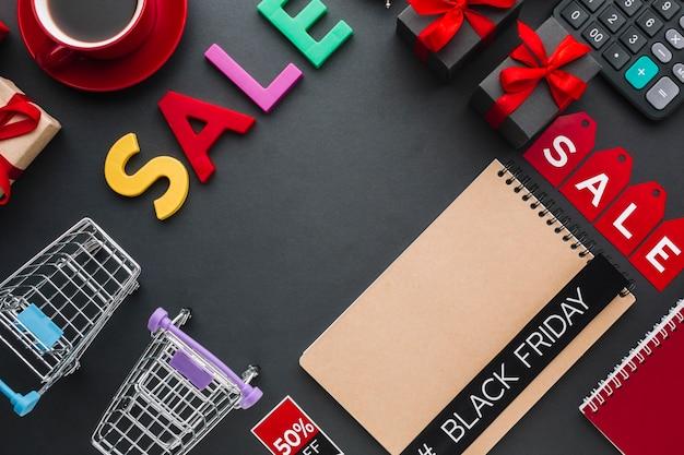Verkaufskonzept mit notebook-modell