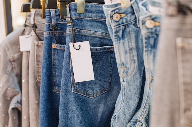 Verkaufssortiment denim collection stand boutique-shop